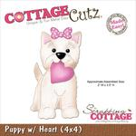 Puppy With Heart Made Easy Die - CottageCutz
