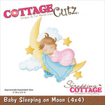 Baby Sleeping On Moon Die - CottageCutz