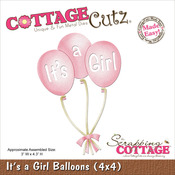 It's A Girl Balloons Die - CottageCutz