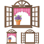 Springtime Window Die With Foam - CottageCutz