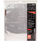 """Ultra Pro 8.5""""x11"""" Refill Pages - 10/Pkg"""