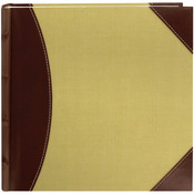 "Brown & Beige - High Capacity 2-Up Photo Album 8""X8"" 300 Pockets"