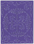 Ornate Flowers & Frame - Sizzix Textured Impressions A2 Embossing Folders 4/Pkg