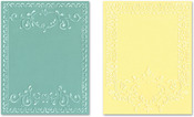 Ornate Frames - Sizzix Textured Impressions A2 Embossing Folders 2/Pkg