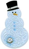 Snowman & Hat Bigz Die With Bonus Textured Impressions - Sizzix