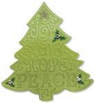 Christmas Tree #2 Bigz Die With Bonus Textured Impressions - Sizzix