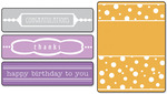 Sizzix Textured Impressions A2 Embossing Folders 4/Pkg - Birthday, Congrats & Th