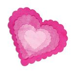 Scallop Hearts Framelits Dies - Sizzix