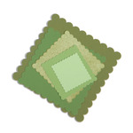 Scallop Squares Framelits Dies - Sizzix
