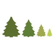 Christmas Trees Framelits Dies - Sizzix