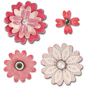 Flower Layers With Heart Petals Bigz Die - Sizzix