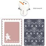 Sizzix Textured Impressions A2 Embossing Folder W/Bonus 3/Pk - Gingerbread Man &