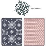 Sizzix Textured Impressions A2 Embossing Folder W/Bonus 3/Pk - Santa Lucia & Mog