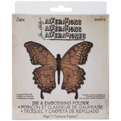 Layered Butterfly - Sizzix Bigz Die W/A2 Texture Fades Folder By Tim Holtz
