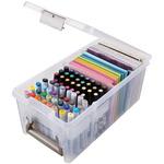 "ArtBin Marker Satchel,  15""X8""X6.5"" Translucent"