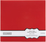 "Red - Colorbok Fabric Post Bound Album 12""X12"""