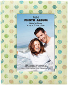"Tan W/Multi Dots - Brag Book 4""X6"" 36 Pockets"