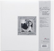 "Wedding - White - Expressions Post Bound Album 12""X12"""