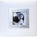 "Wedding - White - Fabric Expressions Photo Album 8.5""X8.5"" 200 Pockets"