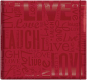 "Live, Love & Laugh - Red - Gloss Post Bound Scrapbook 12""X12"""