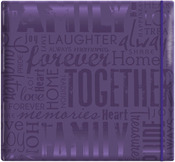 "Family - Purple - Gloss Post Bound Scrapbook 12""X12"""