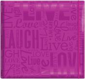 "Live, Love & Laugh - Bright Purple - Gloss Post Bound Scrapbook 12""X12"""