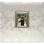 "Wedding - Floral Fabric Post Bound Album 12""X12"""