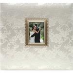 "Wedding - Floral Fabric Post Bound Album 12""X12"""