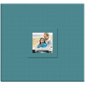 """Blueberry - Earthtone Post Bound Scrapbook W/Window 12""""X12"""""""