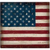 "Vintage Flag Post Bound Scrapbook 12""X12"""