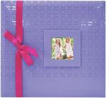 """Purple - Embossed Post Bound Album 12""""X12"""""""