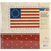 "American Flag Post Bound Album 12""X12"""
