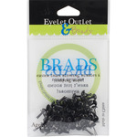 Black - Eyelet Outlet Round Brads 4mm 70/Pkg