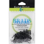 Black - Eyelet Outlet Round Brads 4mm 70/Pkg