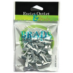 White - Eyelet Outlet Round Brads 8mm 40/Pkg