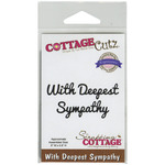 With Deepest Sympathy Expressions Die - CottageCutz