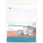 "Clear - Silhouette Printable Sticker Paper 8.5""X11"" 8/Pkg"