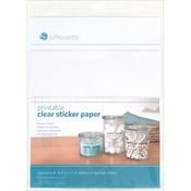 "Clear - Silhouette Printable Sticker Paper 8.5""X11"" 8/Pkg"