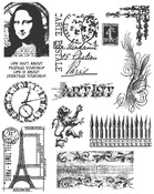 Mini Classics - Tim Holtz Cling Rubber Stamp Set - Stampers Anonymous