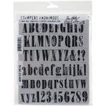 "Worn Text - Tim Holtz Cling Rubber Stamp Set 7""X8.5"""