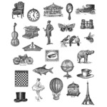 Tiny Things - Tim Holtz Cling Rubber Stamp Set - Stampers Anonymous