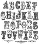 """Mini Cirque Alpha - Tim Holtz Cling Rubber Stamp Set 7""""X8.5"""""""