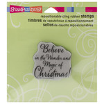 Believe Christmas - Stampendous Christmas Cling Rubber Stamp