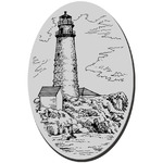 Boston Lighthouse Cling Rubber Stamp - Stampendous