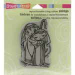 Precious Nativity - Stampendous Christmas Cling Rubber Stamp