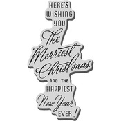 Merriest Wish - Stampendous Christmas Cling Rubber Stamp