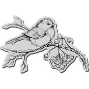 Snow Bird - Stampendous Christmas Cling Rubber Stamp