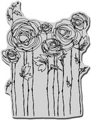 Ranunculus Field - Stampendous Cling Rubber Stamp