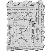 Christmas Background - Stampendous Christmas Cling Rubber Stamp