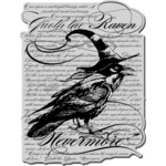 Raven Background - Stampendous Halloween Cling Rubber Stamp